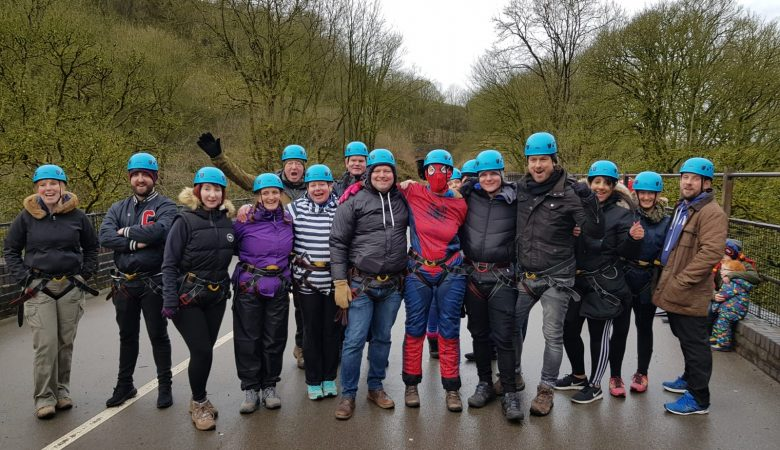Brave Fundraisers Take Leap of Faith for Local Charity
